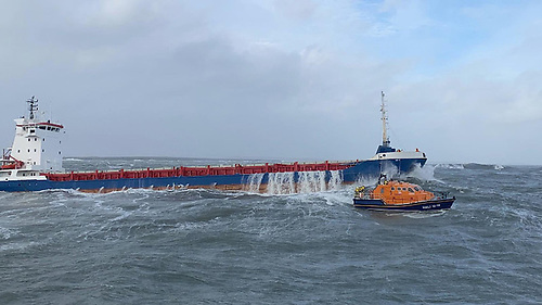 The rescue of the Lily B off Hook Head on 20 October 2020