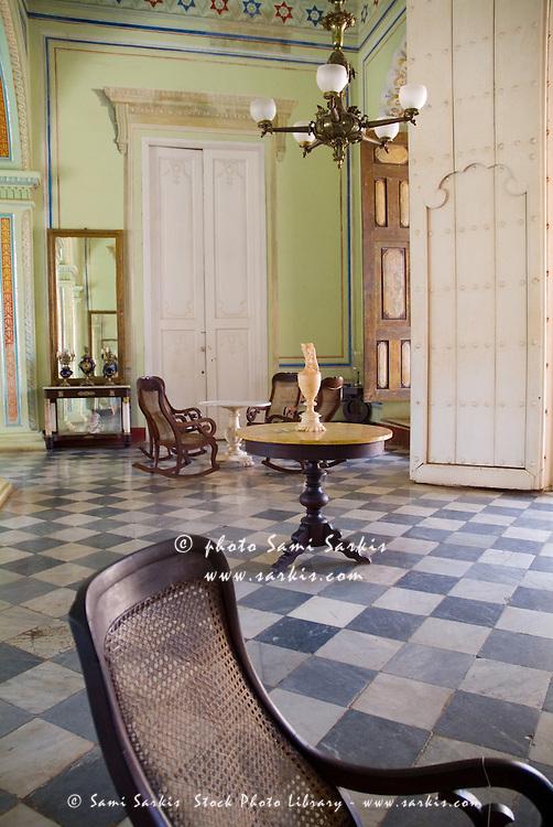 Living room inside the Museum of Colonial Architecture, Trinidad, Sancti Spiritus, Cuba.