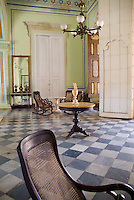 Living room inside the Museum of Colonial Architecture, Trinidad, Sancti Spiritus, Cuba.
