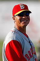 August 5, 2009:  Manager Pedro Lopez of the Brooklyn Cyclones during a game at Dwyer Stadium in Batavia, NY.  The Cyclones are the Short-Season Class-A affiliate of the New York Mets.  Photo By Mike Janes/Four Seam Images