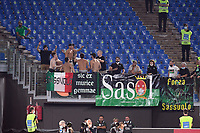 12th September 2021; Olimpico Stadium, Rome, Italy; Serie A championship football, AS Roma versus US Sassulo ; Sassuolo' s supporters get animated in the stands