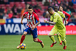Angel Correa (L) of Atletico de Madrid is tackled by Vitorino Gabriel Pacheco Antunes of Getafe CF during the La Liga 2017-18 match between Atletico de Madrid and Getafe CF at Wanda Metropolitano on January 06 2018 in Madrid, Spain. Photo by Diego Gonzalez / Power Sport Images