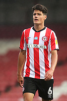 Christian Norgaard of Brentford during Brentford vs Charlton Athletic, Sky Bet EFL Championship Football at Griffin Park on 7th July 2020