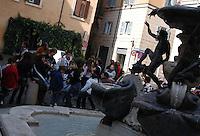 Roma, quartiere Ebraico. Rome, Jewish district. .Fontana delle Tartarughe nella Piazzetta Mattei. .Fountain of the Turtles in the Piazzetta Mattei....