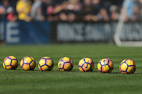San Diego, CA - Sunday January 29, 2017: Nike soccer balls prior to an international friendly between the men's national teams of the United States (USA) and Serbia (SRB) at Qualcomm Stadium.