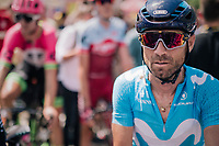 Alejandro Valverde (ESP/Movistar) post-race<br /> <br /> Stage 1: Noirmoutier-en-l'Île > Fontenay-le-Comte (189km)<br /> <br /> Le Grand Départ 2018<br /> 105th Tour de France 2018<br /> ©kramon