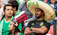 Mexico City, Mexico - Sunday June 11, 2017: Mexico fans during a 2018 FIFA World Cup Qualifying Final Round match with both men's national teams of the United States (USA) and Mexico (MEX) playing to a 1-1 draw at Azteca Stadium.