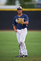 San Diego Padres Nick Torres (13) during warmups before an instructional league game against the Milwaukee Brewers on October 6, 2015 at the Peoria Sports Complex in Peoria, Arizona.  (Mike Janes/Four Seam Images)