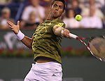March 19, 2008.Fernando Verdasco of Spain, in action during his quarter final loss to Switzerland's Roger Federer at the BNP Paribas Open, Indian Wells, CA