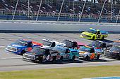 #4: Raphael Lessard, Kyle Busch Motorsports, Toyota Tundra Canac, #52: Stewart Friesen, Halmar Friesen Racing, Toyota Tundra Halmar Racing To Beat Hunger, #99: Ben Rhodes, ThorSport Racing, Ford F-150 Tenda Products