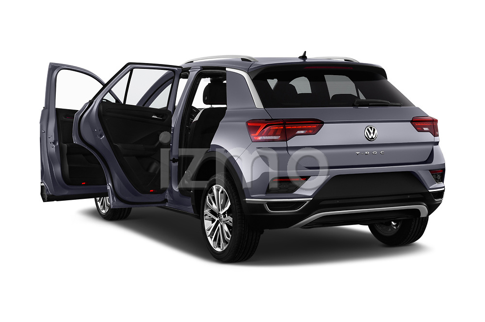 Car images close up view of a 2018 Volkswagen T-Roc Elegance 5 Door SUV doors