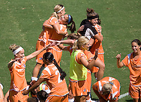 Sky Blue FC celebrates after winning the Final Championship match. The Sky Blue FC defeated the LA Sol 1-0 to win the WPS Final Championship match at Home Depot Center stadium in Carson, California on Saturday, August 22, 2009...