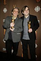 Montreal (Qc) CANADA - March 29 2009 - Jutras award (for Quebec Cinema) : Serge Fiori, Normand Corbeil, meilleure musique (Best music), Babine