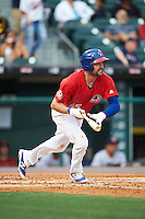 Buffalo Bisons first baseman Casey Kotchman (55) at bat during a game against the Louisville Bats on June 20, 2016 at Coca-Cola Field in Buffalo, New York.  Louisville defeated Buffalo 4-1.  (Mike Janes/Four Seam Images)