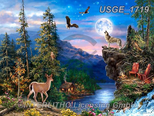Dona Gelsinger, LANDSCAPES, LANDSCHAFTEN, PAISAJES, paintings+++++,USGE1719,#l#, EVERYDAY,countryside,eagles ,puzzle,puzzles