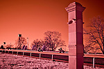 April 3, 2015: Scenes from around the track at sunrise during morning workouts on Bluegrass Stakes Day at Keeneland Race Course in Lexington, Kentucky. (NOTE: Image photographed with infrared modified sensor camera.) Scott Serio/CSM