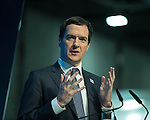 © Joel Goodman - 07973 332324 . 13/06/2016 . Liverpool , UK . Chancellor of the Exchequer , GEORGE OSBORNE , speaks at the International Festival for Business at the Liverpool Exhibition Centre . Photo credit : Joel Goodman