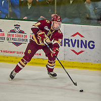 20 February 2016: Boston College Eagle Forward Ryan Fitzgerald, a Junior from North Reading, MA, in action during the third period against the University of Vermont Catamounts at Gutterson Fieldhouse in Burlington, Vermont. The Eagles defeated the Catamounts 4-1 in the second game of their weekend series. Mandatory Credit: Ed Wolfstein Photo *** RAW (NEF) Image File Available ***