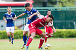 Yiu Kwok of Rangers of Rangers (L) fights for the ball with Hok Ming Lau of Kwoon Chung Southern (R) during the Premier League, week two match between Kwoon Chung Southern and BC Rangers at on September 09, 2017 in Hong Kong, China. Photo by Marcio Rodrigo Machado / Power Sport Images