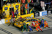 2017 NASCAR Monster Energy Cup - Can-Am Duels<br /> Daytona International Speedway, Daytona Beach, FL USA<br /> Thursday 23 February 2017<br /> Kyle Busch, M&M's Toyota Camry pit stop<br /> World Copyright: Russell LaBounty/LAT Images<br /> ref: Digital Image 17DAY2rl_02834