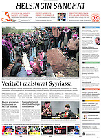Helsingin Sanomat (main Finnisch daily):<br /> Syria, Idlib province -<br /> Uprising against Assad, 03.2012<br /> Photos:  Timo Vogt