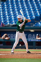 Jake Fox (14) of Lakeland Christian High School in Plant City, FL during the Perfect Game National Showcase at Hoover Metropolitan Stadium on June 19, 2020 in Hoover, Alabama. (Mike Janes/Four Seam Images)
