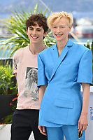 CANNES, FRANCE. July 13, 2021: Timothee Chalamet & Tilda Swinton at the photocall for Wes Anderson's The French Despatch at the 74th Festival de Cannes.<br /> Picture: Paul Smith / Featureflash