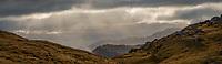 Alpine country with sunbeams, Westland Tai Poutini National Park, UNESCO World Heritage Area, West Coast, New Zealand, NZ