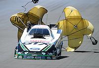 Jul, 22, 2012; Morrison, CO, USA: NHRA funny car driver Mike Neff during the Mile High Nationals at Bandimere Speedway. Mandatory Credit: Mark J. Rebilas-