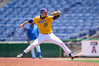 East Carolina Pirates pitcher Tyler Smith (20) during a game against the Memphis Tigers on May 25, 2021 at BayCare Ballpark in Clearwater, Florida.  (Mike Janes/Four Seam Images)