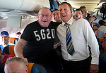 St Johnstone v Eskisehirspor....18.07.12  Uefa Cup Qualifyer.Stuart Cosgrove and Roddy Grant on the flight over to Turkey.Picture by Graeme Hart..Copyright Perthshire Picture Agency.Tel: 01738 623350  Mobile: 07990 594431