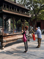 Daoistischer Baiyun Guan-Tempel in Peking, China, Asien<br /> daoistic Baiyun Guan temple, Beijing, China, Asia