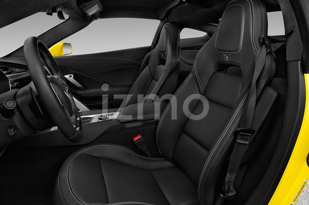 Front seat view of a 2019 Chevrolet Corvette Z06 Coupe 1LZ 3 Door Targa front seat car photos