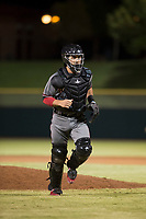 Salt River Rafters catcher Renae Martinez (60), of the Arizona Diamondbacks organization, during an Arizona Fall League game against the Scottsdale Scorpions at Scottsdale Stadium on October 12, 2018 in Scottsdale, Arizona. Scottsdale defeated Salt River 6-2. (Zachary Lucy/Four Seam Images)