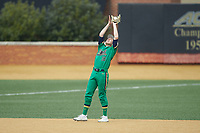 Notre Dame Fighting Irish shortstop Jared Miller (16) catches a pop fly during the game against the Wake Forest Demon Deacons at David F. Couch Ballpark on March 10, 2019 in  Winston-Salem, North Carolina. The Demon Deacons defeated the Fighting Irish 7-4 in game one of a double-header.  (Brian Westerholt/Four Seam Images)