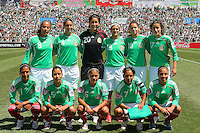 Mexico starting eleven during the USA's 3-1 win vs Mexico in Group A of the 2008 CONCACAF Olympic Women's Qualifying Tournament  in Ciudad Juarez, Mexico, April 6, 2008.