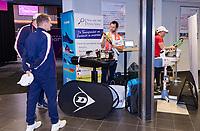 Den Bosch, The Netherlands, Februari 9, 2019,  Maaspoort , FedCup  Netherlands - Canada, Stringer<br /> Photo: Tennisimages/Henk Koster