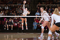 STANFORD, CA - November 15, 2017: Jenna Gray at Maples Pavilion. The Stanford Cardinal defeated USC 3-0 to claim the Pac-12 conference title.