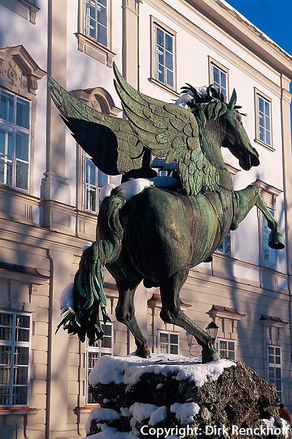Pegasus-Brunnen im Garten von Schloss Mirabell in  Salzburg, Österreich