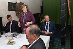 The former High Sheriff of Somerset Mrs Sylvana Chandler attends the annual Court Leet, in Watchet Somerset UK 2014.  Held on the last Thursday in October at the Bell Inn. Giving a speech to Jury members after the traditional lunch. Alex Johnson, land agent Wyndham estate, Mrs Sylvana Chandler, Richard Chandler. Foreground a member of the Jury.