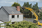 Moneymore Houses being demolished