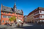 Germany; Bavaria; Lower Franconia; Ochsenfurt: new townhall with Moon Clock | Deutschland, Bayern, Unterfranken, Ochsenfurt: das Neue Rathaus mit Monduhr am Lanzentuermchen