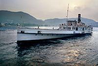 lago di Como, il piroscafo Concordia, del 1926, è il più vecchio natante della Navigazione Lago di Como che ancora solca le acque del Lario..