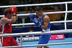 Glasgow 2014 Commonwealth Games<br /> Joseph Cordina (Wales Blue) v David Gauthier ( Canada Red).<br /> Men's light 60kg Preliminaries.<br /> SECC<br /> 27.07.14<br /> ©Steve Pope-SPORTINGWALES