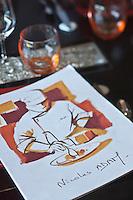 Europe/France/Bretagne/22/Côtes d'Armor/ Plérin-sous-la-Tour:Menu de  Nicolas Adam -  Restaurant: La Vieille Tour  [Non destiné à un usage publicitaire - Not intended for an advertising use]