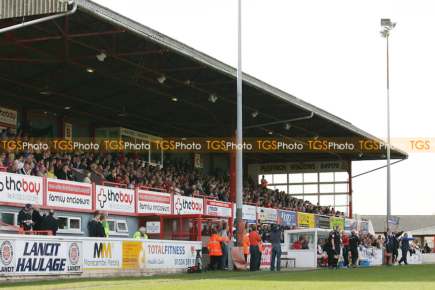 The main stand at Christie Park - Morecambe vs Dagenham & Redbridge 24/04/10 - MANDATORY CREDIT: Dave Simpson/TGSPHOTO - Self billing applies where appropriate - 0845 094 6026 - contact@tgsphoto.co.uk -NO UNPAID USE