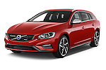 2014 Volvo V60 Summum R-design 5 Door Wagon 2WD Angular Front stock photos of front three quarter view