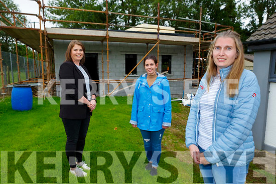 the Cordal preschool afterschool committee on site of the new building on the grounds of Kilmurry NS l-r: Noreen O'Donoghue, Catherine McCarthy and Katie O'Donoghue