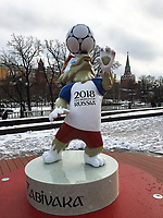 1st December 2017, Moscow, Russia; Zabivaka, the Official Mascot for the 2018 FIFA World Cup Russia pictured before the FIFA World Cup Russia 2018 Final Draw in the State Kremlin Palace on December 01, 2017 in Moscow, Russia