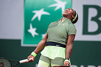 4th July 2021; Roland Garros, Paris France; French Open tennis championships day 6;  Attitude - Joie de Serena Williams (USA )